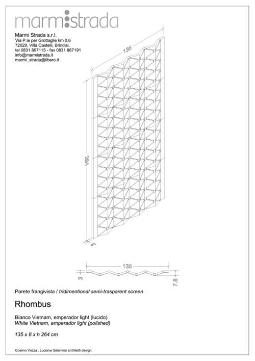 marmi strada parete rhombus progetto
