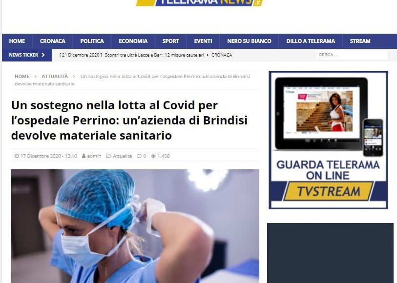 trnews.it Marmi strada donazione natale 2020
