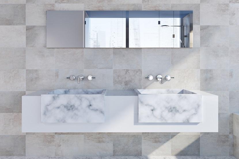 lavabo in marmo bagno moderno