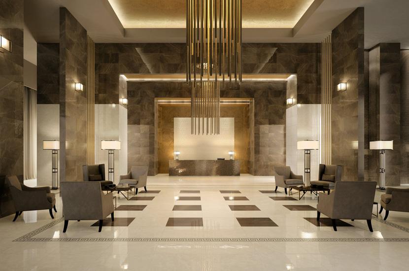 luxury marble hotel